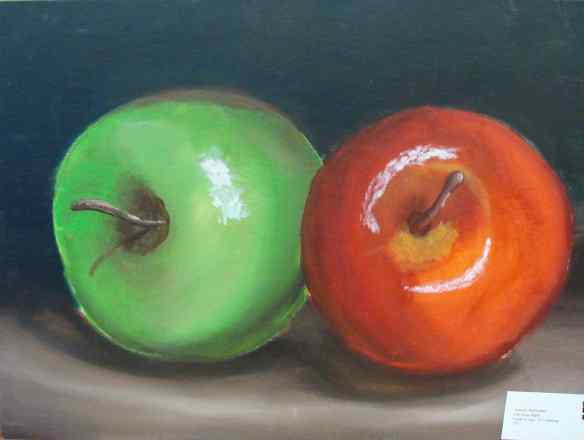 1, 16-7 painting, Antonio McGruther, LIFE OF AN APPLE