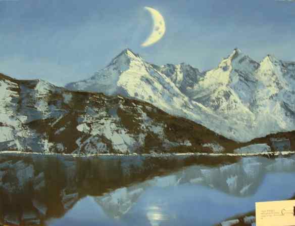1, 18-9 painting, Taylor Wanagitis, MIDNIGHT AND MOUNTAIN