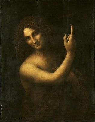 694px-Leonardo_da_Vinci_-_Saint_John_the_Baptist_C2RMF_retouched