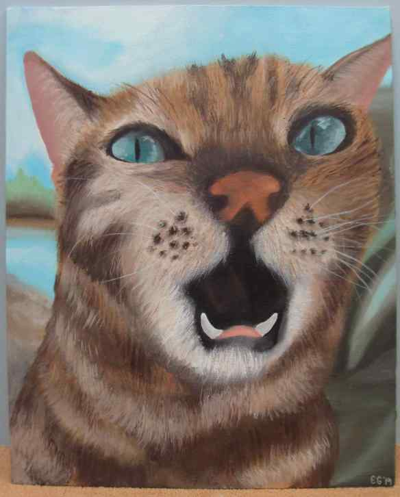 14-5 Acrylic-Oil, 1, Emily Geist, Kit-Cat