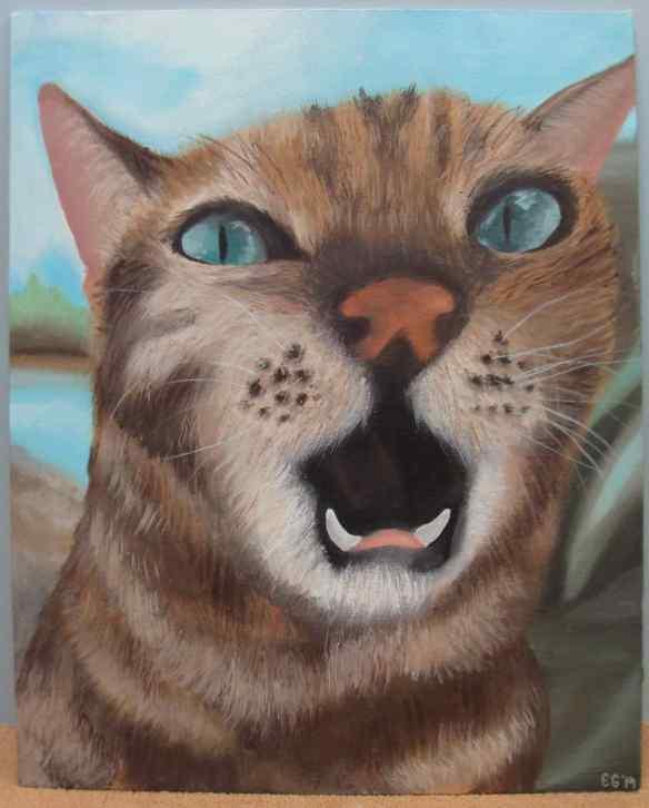 14-5 Acrylic-Oil, 1, Emily Geist, Kit-Cat